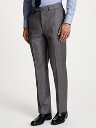 Chester Barrie By Glen Check Wool Boucle Tailored Suit Trousers Grey