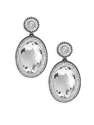Swarovski Vita Oval Crystal Drop Earrings Silver