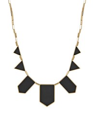 House Of Harlow Geo Bib Necklace Black Gold