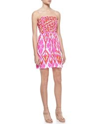 Alice And Trixie Lulu Printed Silk Strapless Dress