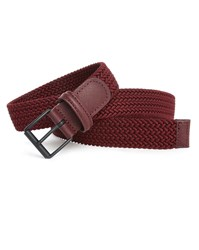 Andersons Burgundy Elasticated Belt With Black Buckle