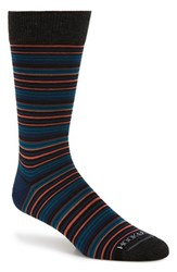 Men's Hook Albert 'Gray' Multi Stripe Socks Red