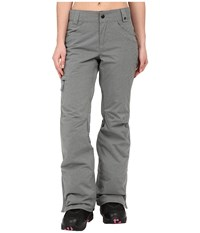 686 Authentic Patron Insulated Pants Grey Herringbone Women's Casual Pants Gray