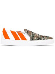 Joshua Sanders Patterned Slip On Sneakers Green