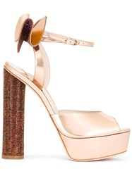 Sophia Webster 'Raye' Platform Sandals Pink Purple