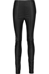Alexander Wang T By Stretch Leather Leggings Black
