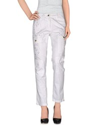 Trussardi Jeans Trousers Casual Trousers Women White