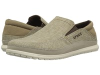 Crocs Santa Cruz Playa Slip On Khaki Stucco Men's Slip On Shoes Beige