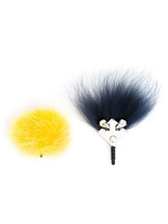 Fendi Crystal Bug And Pompom Smartphone Accessory Blue