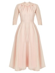 Emilia Wickstead Hera Ruffled Organza A Line Dress Light Pink