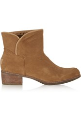 Ugg Darling Shearling Lined Suede Ankle Boots Brown