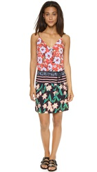 Clover Canyon Floral Sunrise Tie Dress Multi