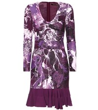 Roberto Cavalli Printed Dress Purple