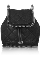 Stella Mccartney The Falabella Mini Quilted Faux Leather Backpack