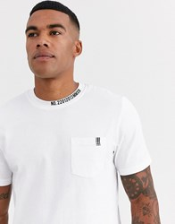 Only And Sons Collar Detail T Shirt In White