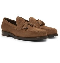 Tod's Suede Tasselled Loafers Brown