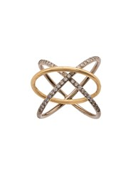 Charlotte Chesnais Crossover Ring Yellow And Orange