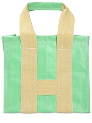 Comme Des Garcons Tote Bag Green Yellow