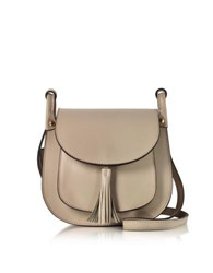 Le Parmentier Nude Leather Shoulder Bag W Tassel