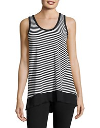 Calvin Klein Striped Performance Tank Top Black Combo