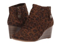 Blowfish Berkeley Brown Autumn Leopard Micro Deluxe Pull On Boots Animal Print