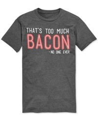 Bioworld Big And Tall Bacon Graphic T Shirt Charcoal Heather