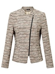 Gerry Weber Zip Through Tweed Jacket Marzipan Cinnamon