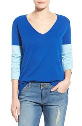 Women's Vince Camuto Colorblock V Neck Sweater