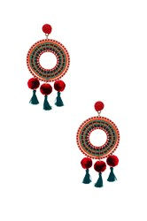 Nannacay Rode Earrings Red