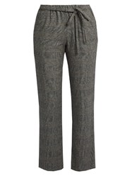 Masscob Prince Of Wales Checked Cropped Trousers Black White