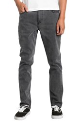 Rvca Daggers Slim Straight Leg Jeans Vintage Charcoal