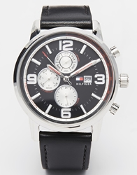 Tommy Hilfiger Gabe Leather Strap Watch 1710335 Black