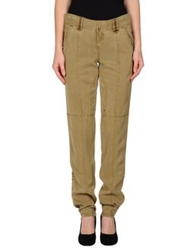 Guess Casual Pants Military Green