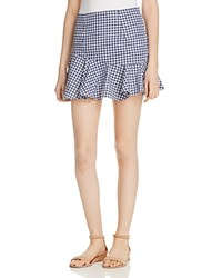 Mlm Label Gingham Mini Skirt 100 Exclusive Blue Gingham