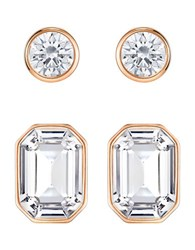 Swarovski Crystal Stud Earrings Rose Gold