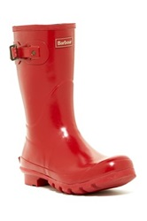 Barbour Short Gloss Boot Red