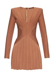 Balmain V Neck Bandage Mini Dress