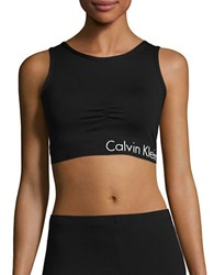 Calvin Klein Athletic Cropped Top Black