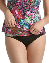Kenneth Cole True Love Floral Hipster Swim Bottom Multi Colored