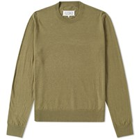 Maison Martin Margiela 14 Elbow Patch Crew Knit Green
