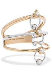 Delfina Delettrez 18 Karat Yellow And White Gold Diamond Ring