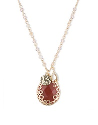 Lonna And Lilly Carnelian Charm Pendant Necklace Red