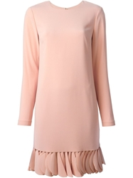 Dkny Petal Trim Shift Dress Pink And Purple