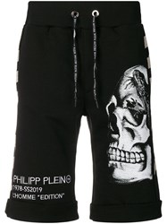 Philipp Plein Skull Sweat Shorts Black