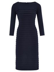 Viyella Petite Jersey Shutter Dress Navy
