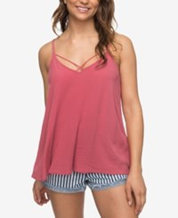 Roxy Juniors' Strappy Tank Top Holly Berry