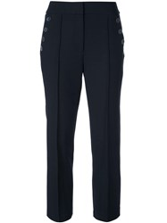 Veronica Beard Cropped Tailored Trousers Blue