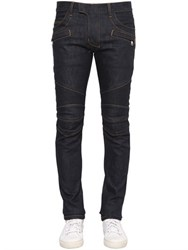 Balmain 16Cm Brut Biker Stretch Denim Jeans