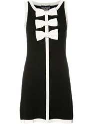 Boutique Moschino Bow Tie Mini Dress Black