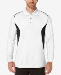 Pga Tour Men's Long Sleeve Polo Bright White